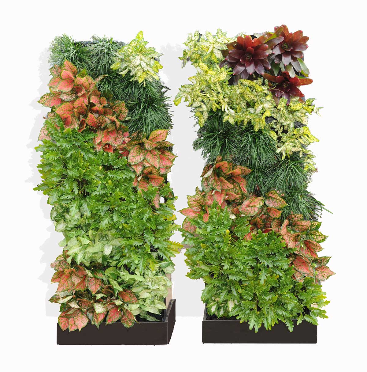 Twin portable vertical gardens